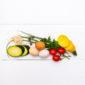 Via lunchplank brood en groenten