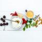 Zuivel met muesli en fruit